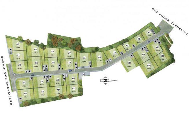 Les Jardins de la Côte Fleurie - Plan 2D - Groupe Pierreval